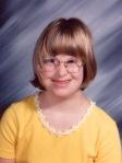 Hillary Grace Dilling school portrait - Sept 1996