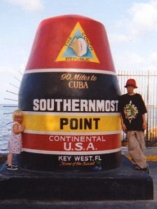 Jesse and sister at southernmost point in Continental U.S., Key West, FL
